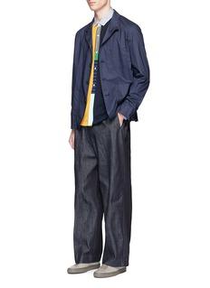 TomorrowlandKnit front stripe cotton shirt
