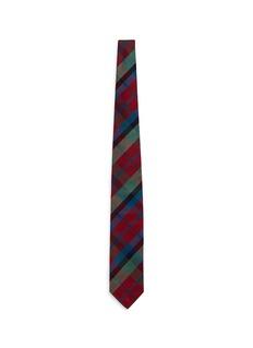 TomorrowlandTartan plaid silk tie
