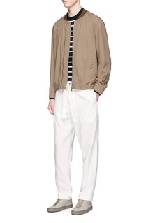 Tomorrowland Sash belt linen hopsack pants