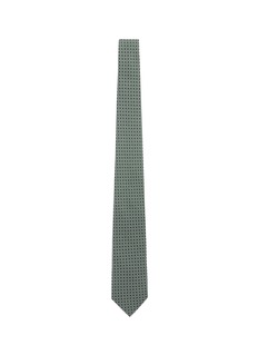 Drake ' S Diamond square print silk tie