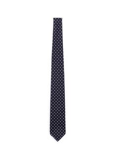 Drake ' SPolka dot print silk grenadine tie