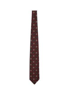 Drake ' SFloral diamond print silk tie
