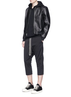 DRKSHDW by Rick Owens Drop crotch faille cropped jogging pants