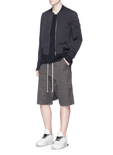 DRKSHDW by Rick Owens'Memphis Pod' front flap cotton shorts