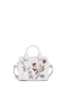 Alexander McQueen'Mini Padlock' embellished charm leather tote