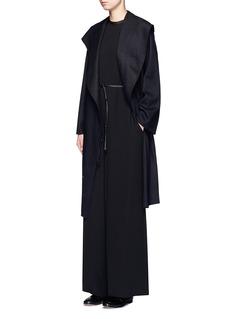 The Row'Shubin' frayed trim drawstring silk jumpsuit