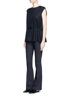 The Row'Becaro' seamed techno fabric flared pants