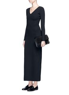 The Row'Thelma' scuba jersey V-neck dress