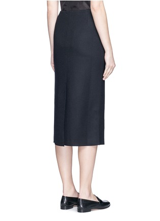 Back View - Click To Enlarge - The Row - 'Hilda' virgin wool blend pencil skirt