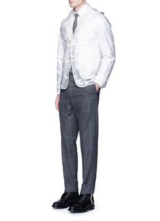 Thom BrowneHector print packable hooded PU blazer