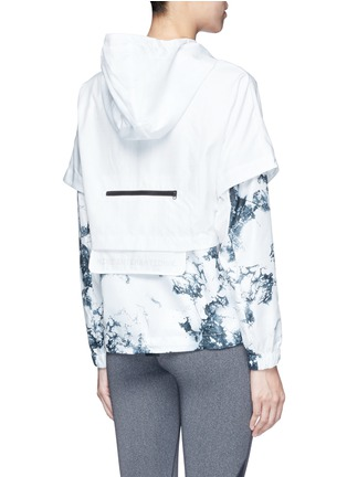 Back View - Click To Enlarge - Nike - 'Nike International Windrunner' foldable aerial print jacket