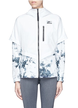 Main View - Click To Enlarge - Nike - 'Nike International Windrunner' foldable aerial print jacket