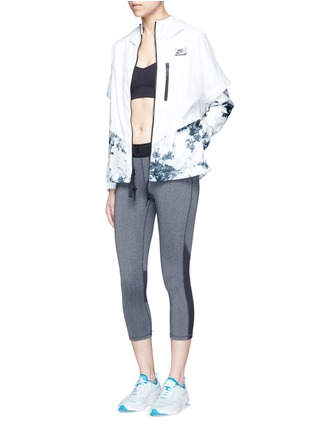 Figure View - Click To Enlarge - Nike - 'Nike International Windrunner' foldable aerial print jacket