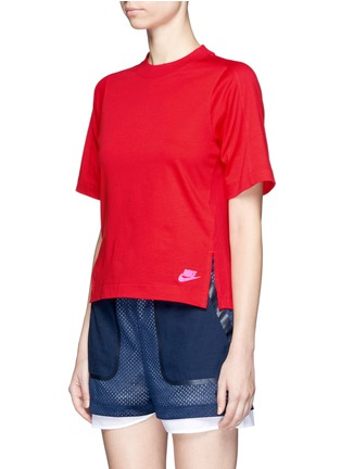 Front View - Click To Enlarge - Nike - 'Sportswear Bonded' combo T-shirt