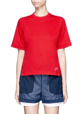 Main View - Click To Enlarge - Nike - 'Sportswear Bonded' combo T-shirt