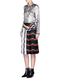 Emilio Pucci Geometric print patchwork pleated skirt