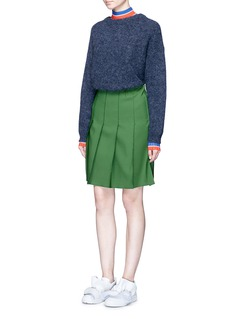 Emilio Pucci Techno twill pintuck pleated skirt