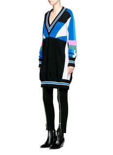Emilio PucciColourblock oversized Merino wool sweater