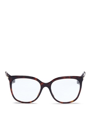 Main View - Click To Enlarge - Dolce & Gabbana - Metal temple tortoishell acetate optical glasses