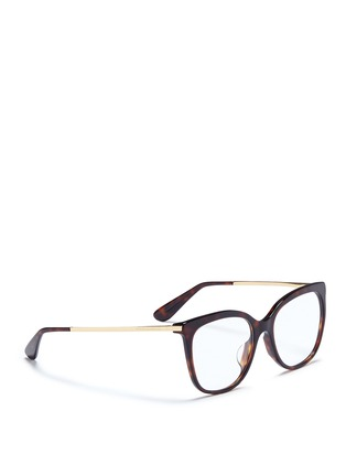 Figure View - Click To Enlarge - Dolce & Gabbana - Metal temple tortoishell acetate optical glasses