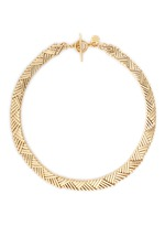 'Natte' chevron bar chain necklace
