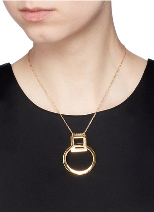 Figure View - Click To Enlarge - Philippe Audibert - 'Ahe' interlocking pendant necklace