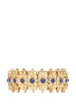 'Cocopa' floral engraved stone elastic bracelet