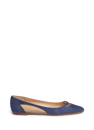 Main View - Click To Enlarge - Fabio Rusconi - Mesh cutout suede skimmer flats