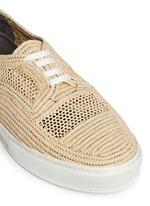 'Teba' Raffia palm espadrille sneakers