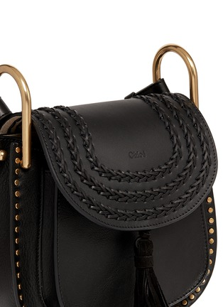 Detail View - Click To Enlarge - Chloé - 'Hudson' small braided leather shoulder bag