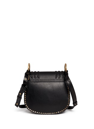 Back View - Click To Enlarge - Chloé - 'Hudson' small braided leather shoulder bag