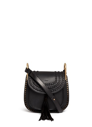 Main View - Click To Enlarge - Chloé - 'Hudson' small braided leather shoulder bag