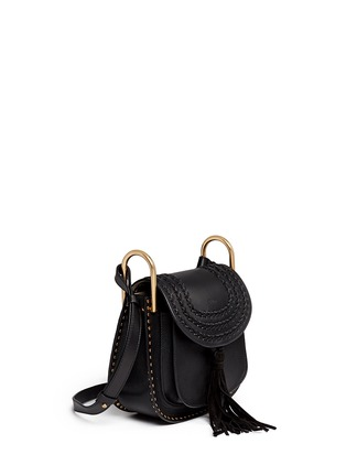 Figure View - Click To Enlarge - Chloé - 'Hudson' small braided leather shoulder bag