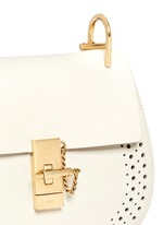 'Drew' small perforated leather shoulder bag