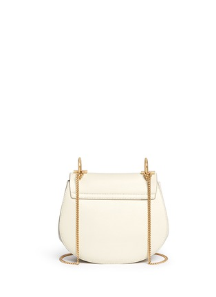 Back View - Click To Enlarge - Chloé - 'Drew' small perforated leather shoulder bag