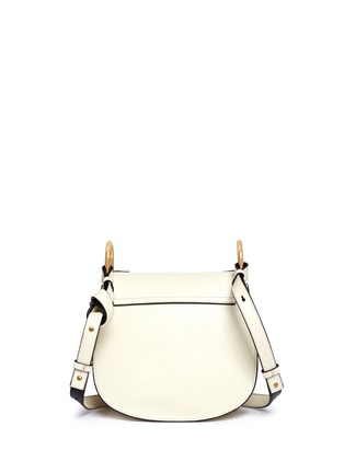 Back View - Click To Enlarge - Chloé - 'Hudson' small rivet folded trim leather saddle bag