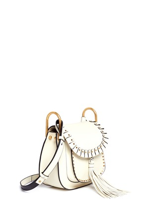 Figure View - Click To Enlarge - Chloé - 'Hudson' small rivet folded trim leather saddle bag
