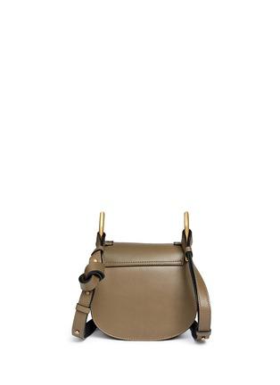 Back View - Click To Enlarge - Chloé - 'Hudson' mini rivet folded trim leather saddle bag