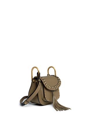 Figure View - Click To Enlarge - Chloé - 'Hudson' mini rivet folded trim leather saddle bag