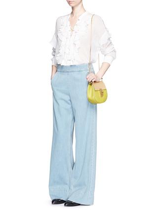 - Chloé - 'Drew' mini colourblock leather shoulder bag