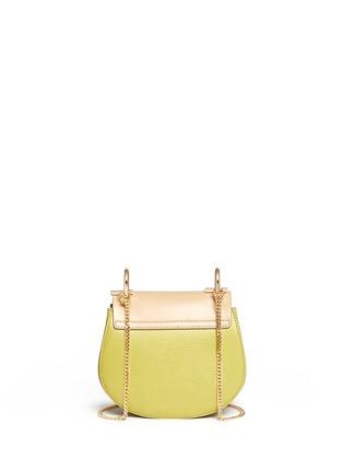 Back View - Click To Enlarge - Chloé - 'Drew' mini colourblock leather shoulder bag
