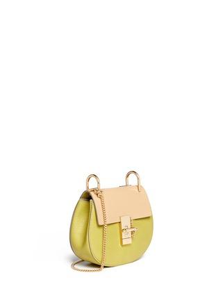 Front View - Click To Enlarge - Chloé - 'Drew' mini colourblock leather shoulder bag