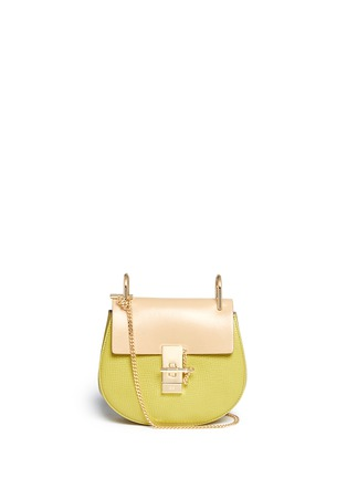 Main View - Click To Enlarge - Chloé - 'Drew' mini colourblock leather shoulder bag