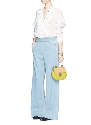 Figure View - Click To Enlarge - Chloé - 'Drew' mini colourblock leather shoulder bag