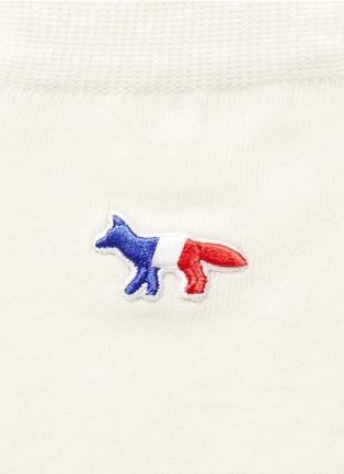 细节 - 点击放大 - MAISON KITSUNÉ - 狐狸刺绣纯棉袜子