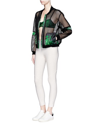 Figure View - Click To Enlarge - We Are Handsome - 'The Kinabalu' print active mesh bomber jacket