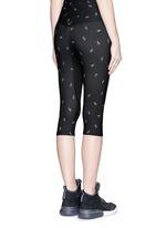 Spark print sports capri pants