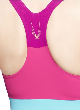 Detail View - Click To Enlarge - Lucas Hugh - 'Colour Bolt' sports bra