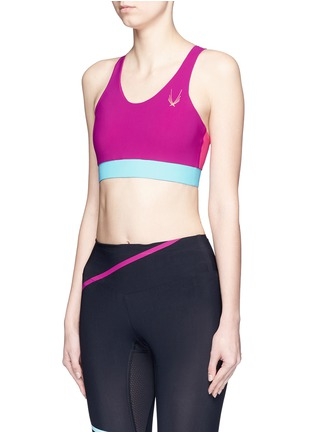 Front View - Click To Enlarge - Lucas Hugh - 'Colour Bolt' sports bra