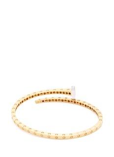 COIN ROBERTO S.R.L. 'Chiodo' diamond 18k yellow and white gold bangle